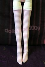 Pink White Stripe Stockings MSD 1/4 BJD Doll Mini Super Dollfie AOD AF DOD DK DZ