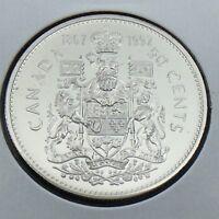 1867-1992 Canada 50 Fifty Cent Half Dollar Brilliant Uncirculated BU Coin G510
