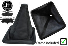 BLACK STITCH LEATHER GEAR BOOT WITH PLASTIC FRAME FOR VW GOLF MK1 RABBIT JETTA