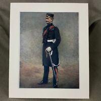1900 Antico Militare Ritratto Stampa 8th Division Reggimento Reginald Palo Carew