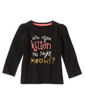 Nwts 18 24 Gymboree Right Meow Top Are You Kitten Me Right Meow !?
