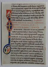 Initial I the beginning of the Book of Ruth Lincoln Cathedral Postcard (P269)