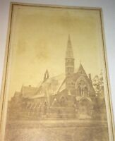 Rare Antique Civil War Era Victorian American Religious Church Indiana CDV Photo