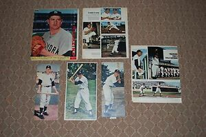Lot of (6) Different 1960's NY Yankees Colorotos-Mantle-3, Turley, Pepitone-2