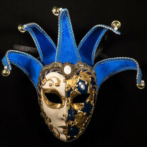 Venetian Mask: Italy. Joly (Blue and White)