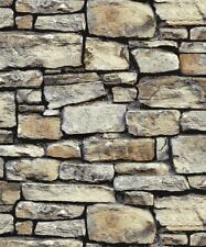 Arthouse Cornish Stone Brown Brickwork Wall Realistic 3D Brick Wallpaper 668900