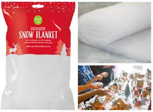 SNOW BLANKET 70cm x 50cm CHRISTMAS DECORATION TREE FAKE GROTTO NATIVITY WINTER
