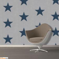 NEW Rasch Stars Blue & Grey Feature  Wallpaper 248104