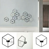 Geometric Candlestick 3D Metal Wall Candle Holder Sconce Home Decor Nordic #HN