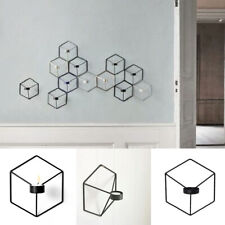 Geometric Candlestick Metal Wall Candle Holder Sconce 3D Home Decor Nordic HD3P