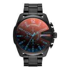 fe3bba5ad301 Diesel DZ4318 Mega Chief Mens Watch Chronograph Black Stainless Steel