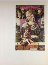 """1957 Vintage Colorato Art Placca """" Madonna & Child """" Crivelli Splendida"""