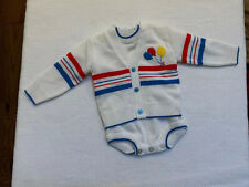Vintage Mine Alone Baby 2 Piece Sweater Outfit W/ Balloons 6 Month~A4
