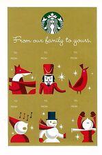 (10) Sheets of Starbucks Holiday - Christmas Adhesive Gift Tags - 6 per sheet