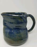 Pinched Studio Pottery Pitcher - Signed 1995