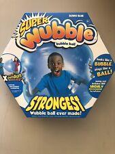 THE AMAZING NEW SUPER Wubble Bubble Ball BOING BLUE. New In Box.