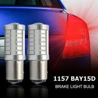 2x BAY15D 1157 380 (P21/5W) 5630 33 LED BRAKE LAMP STOP TAIL LIGHT BULB RED UK