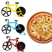 ALS_ Bicycle Pizza Cutter Dual Non-stick Stainless Steel Bike Wheel Knife Slicer