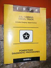 1994 DODGE TRUCK 5.9L CUMMINS DIESEL FACTORY DIAGNOSTIC SERVICE MANUAL UPDATED