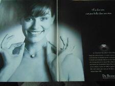 Publicitté Advertising 1998  De Beers le Diamant Elisabeth Colombier