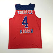 Milos Teodosic #4 Serbia Srbija Moscow CSKA EuroLeague Basketball Jersey Printed