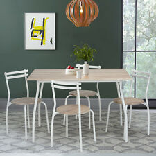 5PCS Set Dining Table and 4 Chairs Home Table Seat Kitchen Living-room