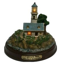 "Thomas Kinkade ""A Light in the Storm"" Lighted Cottage Lighthouse"