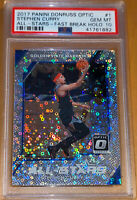 2017 Stephen Curry PANINI DONRUSS OPTIC FAST BREAK HOLO REFRACTOR #1 PSA 10 BGS