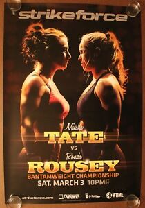 Official Strikeforce - Miesha Tate vs Ronda Rousey Poster 27x39 (Near Mint) UFC