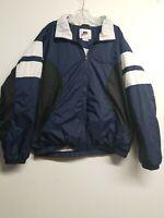 Vintage Mens Nike Jacket Wind Breaker  Size XL Preowned White Blue Black, Lined