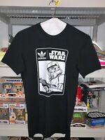 Adidas Star Wars Storm Trooper Tee Shirt Black Mens Sz S NEW*GJ2114