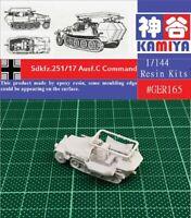 KAMIYA 1/144 WWII German Sdkfz251/17 Command Half-track Resin Kit #GER165