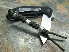 DARK CAMO 550 PARACORD KNIFE LANYARD W/ SAW BEADS AMERICAN MADE