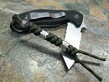 DARK CAMO 550 PARACORD KNIFE LANYARD W/ SAW BEAD AMERICAN MADE