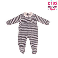 Coccode Chenille Babygrow Size 6M / 66Cm Striped Elbow Patches Made in Italy