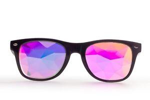 Square Kaleidoscope Glasses Rave Dance EDM Sunglasses Rainbow Festival Fazra