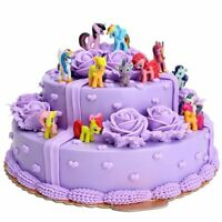 12 PCs Set of My Little Pony Cake Toppers PVC Action Figures Kids Girl Toy New