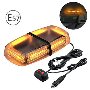 54 LED Car Roof Recovery Light Bar Amber Warning Strobe Flashing Beacon Magnetic