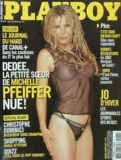 Playboy (édition française) - Dedee la petite soeur de Michelle Pfeiffer nue