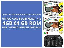 SmartTV Box HK1Max  Android 9.0 4GBRAM 64GBROM QuadCore 4K WiFiDUALBAND+TASTIERA