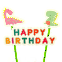 1set Dinosaur Theme Birthday Cake Topper for Party DIY Baking Cake Decoration