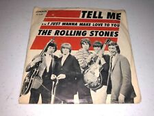 "1964 The Rolling Stones ""Tell Me/I Just Wanna Make Love To You"" 45 RPM w/PS EX"