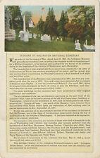 VA * Arlington National Cemetery View & History * Post Card 1923