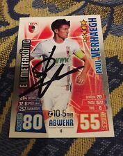 match attax signiert Paul Verhaegh FC Augsburg  NEU