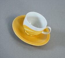 poppige Fürstenberg Kaffeetasse mit Untertasse Form 677 Pastell Gelb Vintage RAR