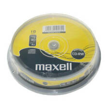 Maxell CD-RW | Re-writable Recordable Blank CD RW Discs + Sleeves 1/5/10 Pack