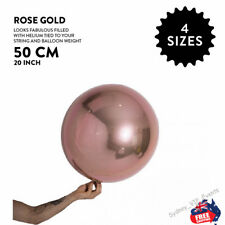 "ROSE GOLD BALLOON BALL ROUND ORBZ 20""/50CM BIRTHDAY WEDDING BABY SHOWER PARTY"