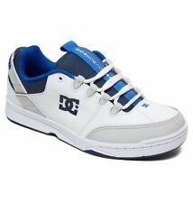 Tg 42 - Scarpe Uomo Skate DC Shoes Syntax White Grey Blue Sneakers Schuhe 2019