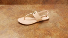 New! Tory Burch 'Everly' T-Strap Flat Sandal Pink Leather Womens 8 M MSRP $228