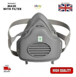 Chemical Reusable Anti-Dust Respirator Safety Industrial Mask With Filter